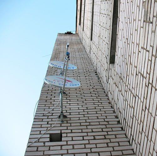 Спутниковая антенна на доме